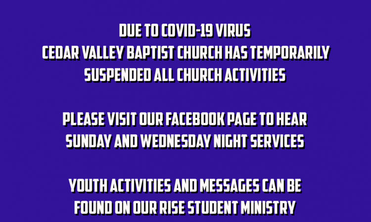Church Services Closed Due To COVID-19